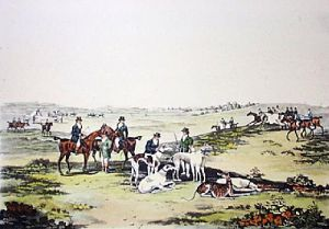 Coursing - Plate 1 (Restrike Etching) by Henry Alken