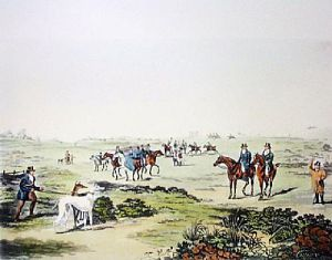 Coursing - Plate 2 (Restrike Etching) by Henry Alken