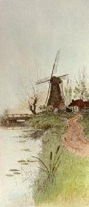 Windmill (Restrike Etching) by John Alfred Vintner