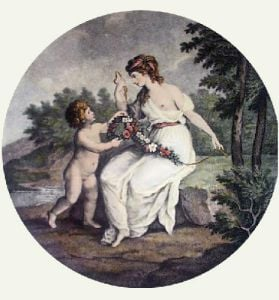 Spring (Round) (Restrike Etching) by William Hamilton