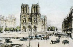 Paris, Notre Dame (Restrike Etching) by Harry C. Brewer