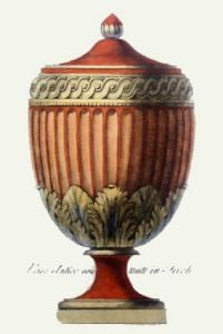 Vases - Pl. VIII (T'cotta) (Restrike Etching) by Anonymous