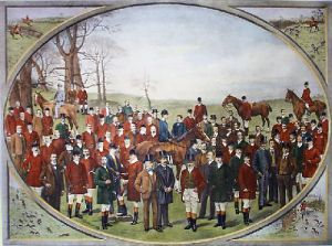 Masters of British Hounds (Restrike Etching) by Messrs. Dickinsons