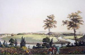 Elgin, Town of (Restrike Etching) by IH Clark