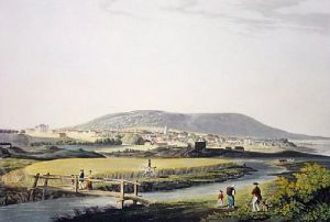 Tain, Town of (Restrike Etching) by IH Clark
