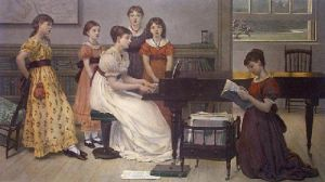 Home Sweet Home (Restrike Etching) by George Dunlop Leslie
