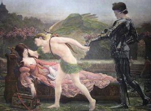 Love Triumphant (Restrike Etching) by Sigismund Goetze