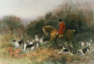Short Cut to the Meet (Restrike Etching) by Heywood Hardy