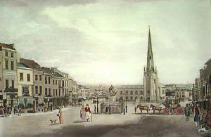 High Street Birmingham (Restrike Etching) by T. Hollins