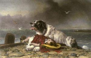 Saved (Restrike Etching) by Sir Edwin Henry Landseer