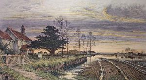 Evening Time It Shall Be Light (Restrike Etching) by Benjamin Williams Leader