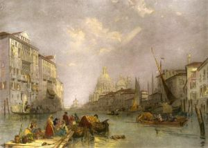 Grand Canal, Venice (Restrike Etching) by J.D. Harding
