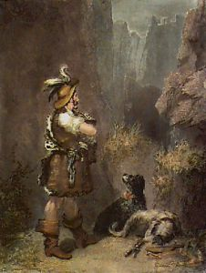 Falconer (With Dogs) (Restrike Etching) by Anonymous