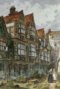 St Peter's Hospital Bristol (Restrike Etching) by Charles Bird