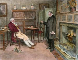 Parson & Squire (Restrike Etching) by Walter Dendy Sadler