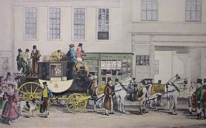 Blenheim Coach (Large) (Restrike Etching) by Robert Havell