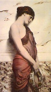 Dancing Girl (Restrike Etching) by John William Godward