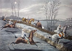 Night Riders - Plate 2 (Restrike Etching) by Henry Alken
