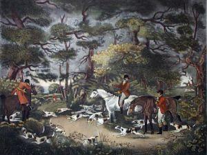 Fox Hunting - Plate 1 (Restrike Etching) by Dean Wolstenholme
