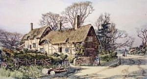 Ann Hathaway's Cottage (small) (Restrike Etching) by Wilfred Ball