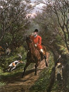 Bringing Tail Hounds (Restrike Etching) by Inglis Sheldon-Williams
