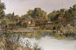 Sonning (Restrike Etching) by Angley