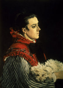 Camille with her little dog by Claude Monet