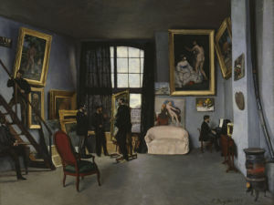 Bazille's studio by Jean Frederic Bazille
