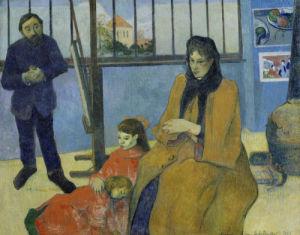 Emile Schuffenecker's studio by Paul Gauguin