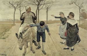 The Miller, His Son and the Donkey by Ferdinand Hodler