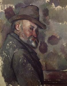 Self-portrait with felt hat by Paul Cezanne