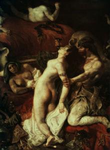 Death of Sardanapalus by Ferdinand Victor Eugene Delacroix