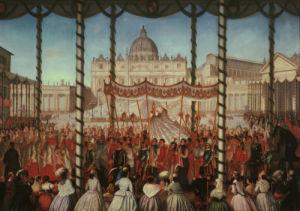 Corpus Christi procession of Pope Pius IX by Tironi