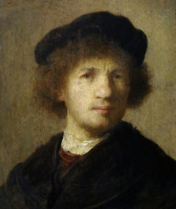 Self-portrait by Rembrandt