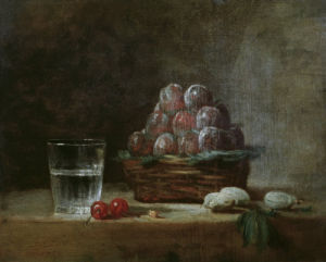 Basket of Plums by Jean Baptiste Chardin