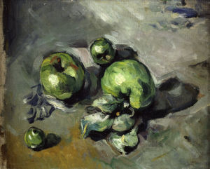 Green apples by Paul Cezanne