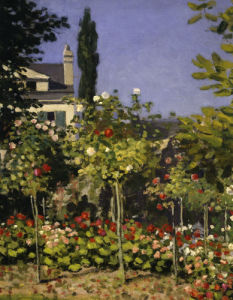 Garden in bloom (detail 1) by Claude Monet