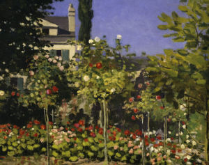 Garden in bloom (detail 2) by Claude Monet