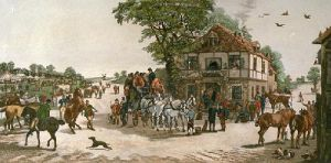 Halt at the Black Swan (Restrike Etching) by Henry Alken