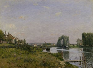 L'ile Saint Denis by Alfred Sisley