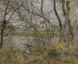 Banks of the river Oise by Camille Pissarro