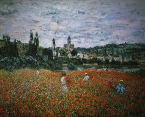 Poppy Field near Vétheuil by Claude Monet