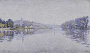 Riverbanks. The Seine at Herblay by Paul Signac