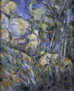 Rocks near the caves above Chateau Noir by Paul Cezanne