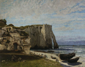 Cliffs at Etretat after a storm by Gustave Courbet
