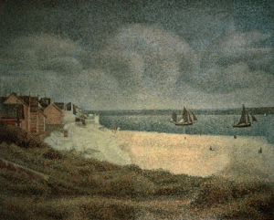 Le Crotoy, Aval by Georges Seurat