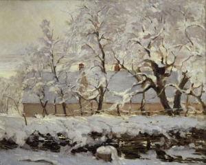 The Magpie (detail 3) by Claude Monet