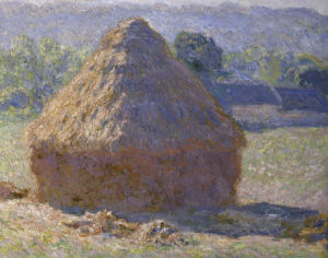 Haystack, late summer (detail) by Claude Monet