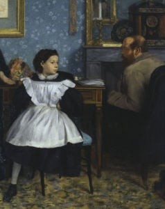 The Bellelli family (detail) by Edgar Degas