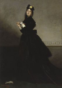 Lady with glove by Charles Durant